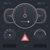 Realistic Car Dashboard UI Vector