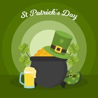 Ilustración de Vector de día de Flat St Patrick