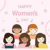 Vektor der glücklichen Frauen Tages