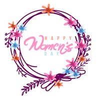 Fondo feliz día de la mujer vector