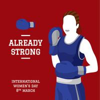 International Women Day Boxing Vector