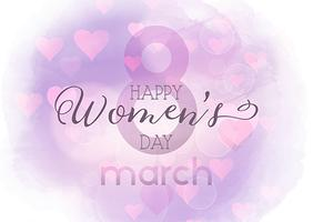 Women's Day background with watercolour texture