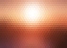 Abstract sunset hexagonal mosaic background