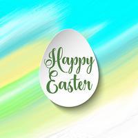 Påsk bakgrund med ägg på akvarell konsistens