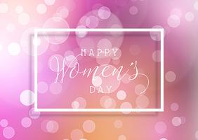 Women's Day background with bokeh lights
