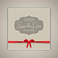 Vintage save the date invitation design
