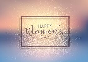 Women's Day glitter background  vector