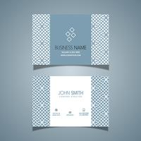 Business card with a pattern design