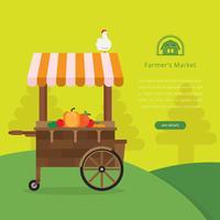 Bauernmarkt Logo Illustration