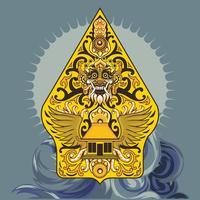 Forme modifiée de wayang Gunungan Concept