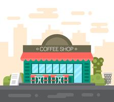 Flat Coffee Shop vector
