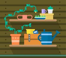 Flat Gardening Objects vector