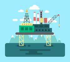 Taladro de petróleo plano