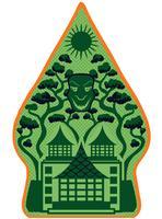 Vecteurs de Gunungan Wayang vert