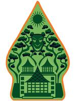 Gröna Gunungan Wayang vektorer
