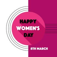 Glad kvinna dag vektor