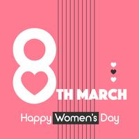 Typography Happy Women's Day Vector