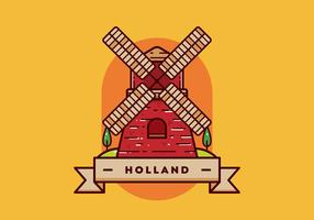 holland briefkaart vector
