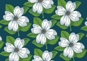 patrón de papel tapiz de flores retro