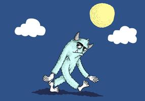 Yeti in the moonlight