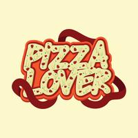Pizza Lover Typography Design