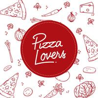 Pizza Lovers Typography Vector