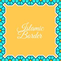 Flat Islamic Border Vector Background