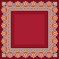Islamic Border With Red Background Vector