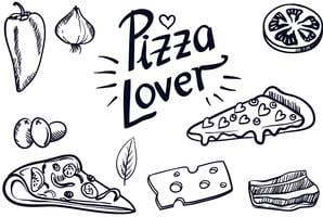 Vintage Pizza Lover Vectoren