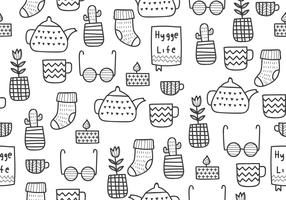 Hygge Time Seamless Pattern vector