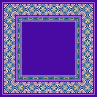 Vector de frontera islámica decorativa