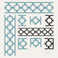 Islamic Border Editable Seamless Pattern vector