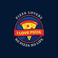Insignia de Typography de Pizza Lovers