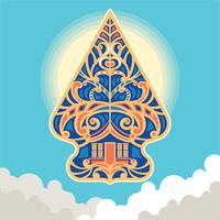 Vektor-Illustration Wayang Gunungan von Indonesien