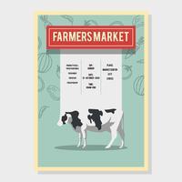vector de viajero de mercado de granjero