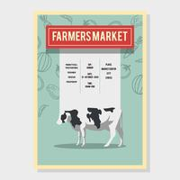 Landwirt-Markt-Flyer-Vektor