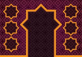Islamic Border Background vector