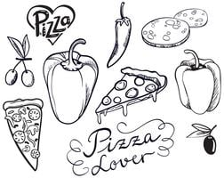 Vintage Pizza Lovers Vectors