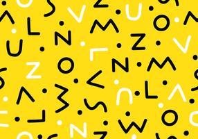 Seamless Letter Memphis Pattern