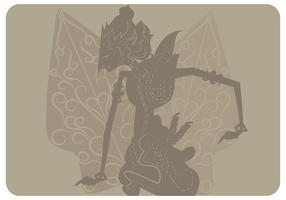 Prabu Ramawijaya met Gunungan Vector