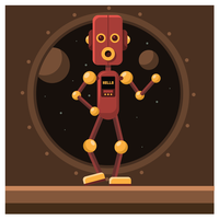 Roboter-Charakter-Design