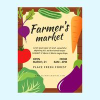 Famers Market Flyer Template vector