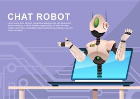 chat ai robot vector