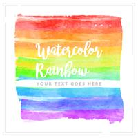 Vector Watercolor Rainbow Element