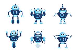 vector de robot ai