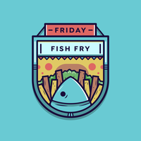 Fredag ​​Fish Fry Vector Badge