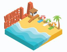 Isometric Venice Beach Los Angeles
