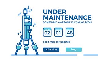 Webbplats Under Construction Landing Page Machine Concept
