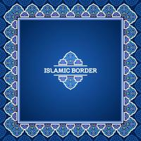 Turkish Islamic Border Vector