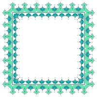 Islamic Border With White Background Vector